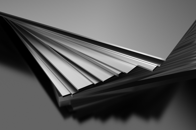 Stack of aluminum sheets